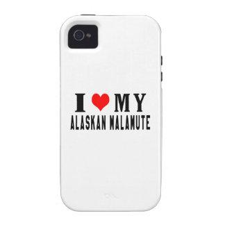 I Love My Alaskan Malamute Vibe iPhone 4 Cases