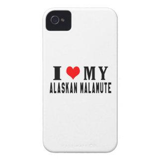 I Love My Alaskan Malamute Case-Mate iPhone 4 Cases