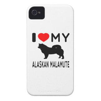 I Love My Alaskan Malamute. iPhone 4 Covers