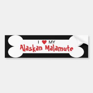 I Love My Alaskan Malamute Dog Breed Car Bumper Sticker