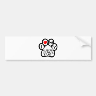I Love My Alaskan Malamute Dog Car Bumper Sticker