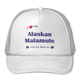 I Love My Alaskan Malamute (Female Dog) Hats