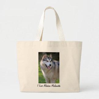 I Love My Alaskan Malamute Gifts & Novelties Tote Bags