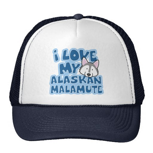 I Love My Alaskan Malamute Hat