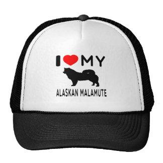 I Love My Alaskan Malamute. Hats