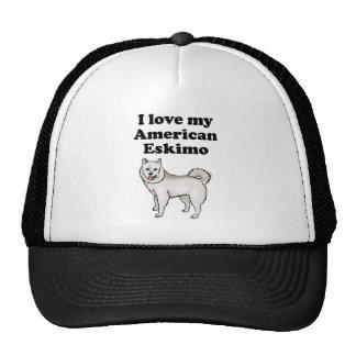 I Love My Alaskan Malamute Mesh Hats