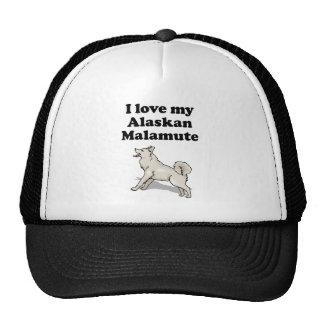I Love My Alaskan Malamute Mesh Hat