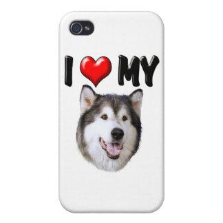 I Love My Alaskan Malamute iPhone 4 Covers