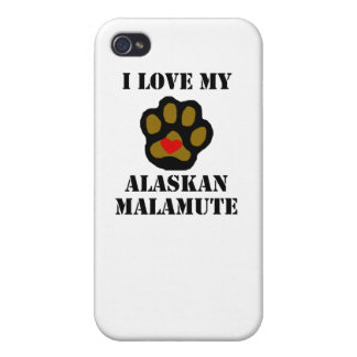 I Love My Alaskan Malamute Cover For iPhone 4
