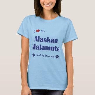 I Love My Alaskan Malamute (Male Dog) T-Shirt