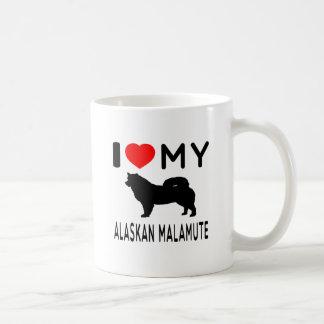 I Love My Alaskan Malamute. Coffee Mugs