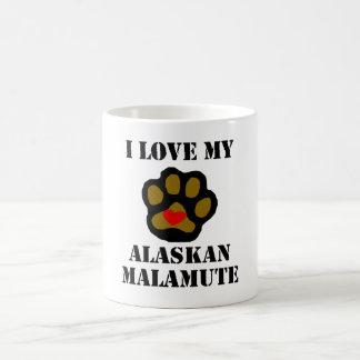 I Love My Alaskan Malamute Mugs