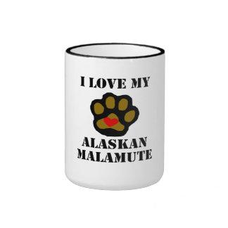 I Love My Alaskan Malamute Coffee Mugs