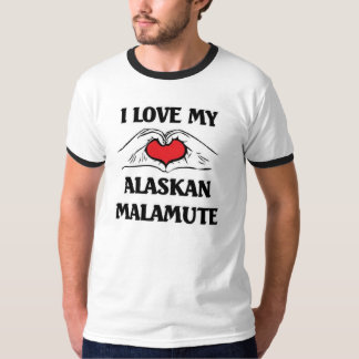 I love my Alaskan Malamute T-Shirt