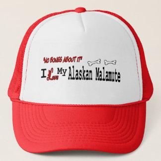 I Love My Alaskan Malamute Trucker Hat
