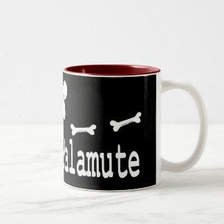 I Love My Alaskan Malamute Two-Tone Coffee Mug