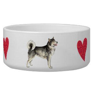 I Love my Alaskan Malemute Bowl