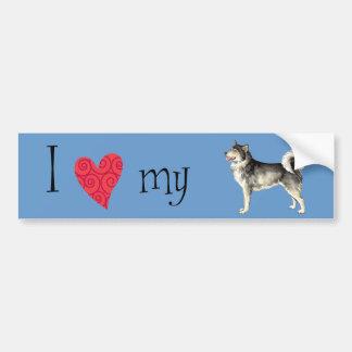 I Love my Alaskan Malemute Bumper Sticker