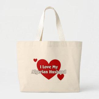 I love my Albanian Husband Large Tote Bag
