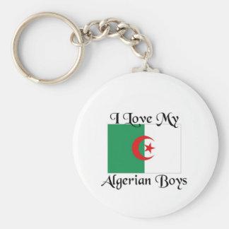 I love my Algerian boys Basic Round Button Keychain