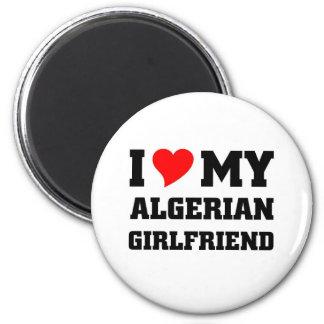 I love my algerian girlfriend 2 inch round magnet