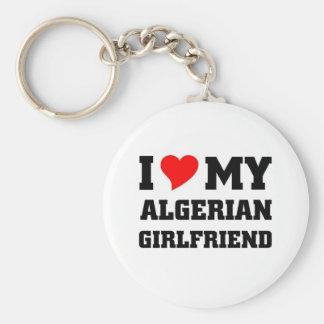 I love my algerian girlfriend basic round button keychain