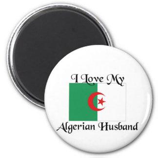 I love my algerian husband 2 inch round magnet