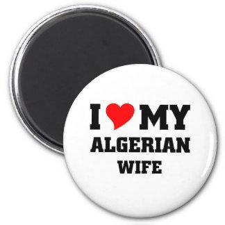 I love my algerian wife 2 inch round magnet