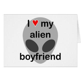 I love my alien boyfriend card