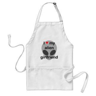 I love my alien girlfriend adult apron