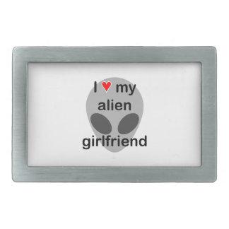 I love my alien girlfriend belt buckles