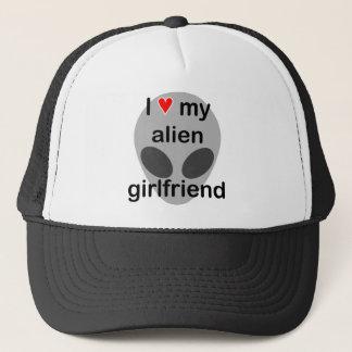 I love my alien girlfriend trucker hat