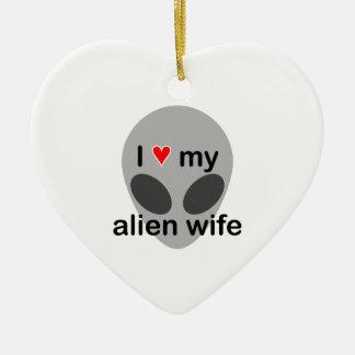 I love my alien wife ornament