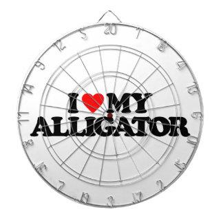 I LOVE MY ALLIGATOR DARTBOARDS