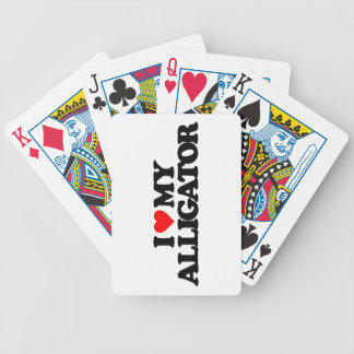 I LOVE MY ALLIGATOR PLAYING CARDS