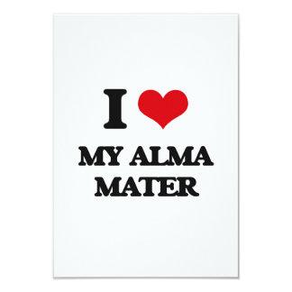 I Love My Alma Mater 3.5x5 Paper Invitation Card
