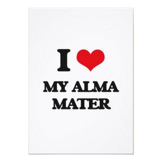 I Love My Alma Mater 5x7 Paper Invitation Card