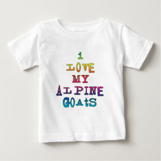 I Love My Alpine Goats Baby T-Shirt