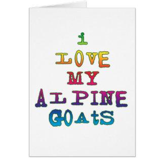 I Love My Alpine Goats Card