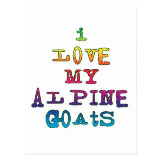I Love My Alpine Goats Postcard