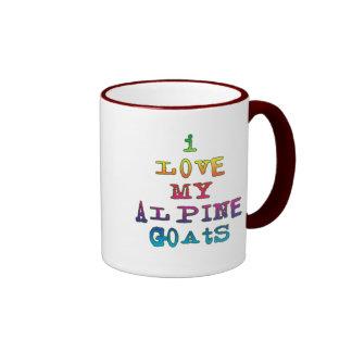I Love My Alpine Goats Ringer Coffee Mug