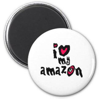 I Love My Amazon 2 Inch Round Magnet