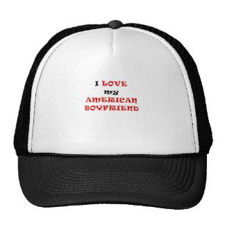 I Love my American Boyfriend Trucker Hat
