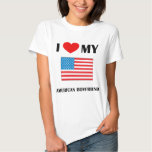 I Love My American Boyfriend Ladies Baby Doll T Shirt