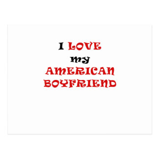I Love my American Boyfriend Postcard