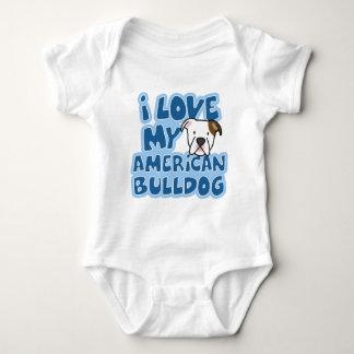 I Love My American Bulldog Baby Creeper