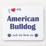 I Love My American Bulldog (Female Dog) Mouse Mat