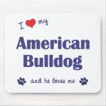 I Love My American Bulldog (Male Dog) Mouse Mats