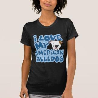 I Love My American Bulldog Women s Twofer Shirt
