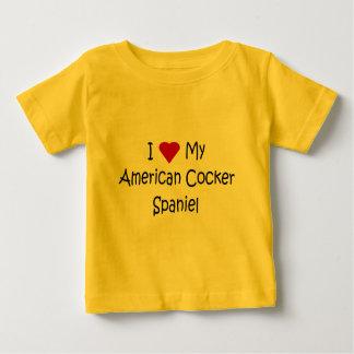 I Love My American Cocker Spaniel Dog Lover Gifts Tee Shirt